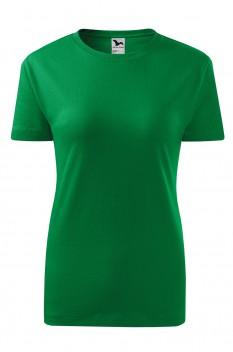 Tricou femei, bumbac 100%, Malfini Classic New, verde mediu
