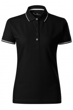Tricou polo femei Malfini Premium Perfection Plain, negru