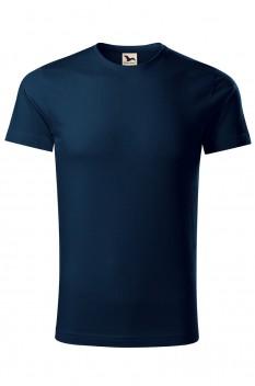 Tricou barbati, bumbac organic 100%, Malfini Origin, albastru marin