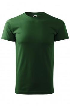 Tricou barbati, bumbac 100%, Malfini Basic, verde sticla