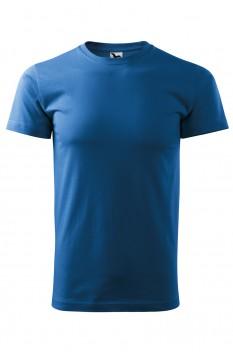 Tricou barbati, bumbac 100%, Malfini Basic, albastru azuriu