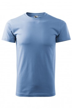 Tricou barbati, bumbac 100%, Malfini Basic, albastru deschis