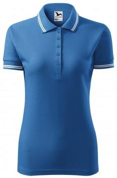 Tricou polo femei Malfini Urban, albastru azuriu