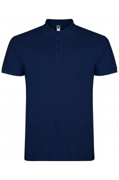 Tricou polo copii, bumbac 100%, Roly Star, bleumarin