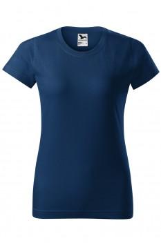 Tricou femei, bumbac 100%, Malfini Basic, midnight blue