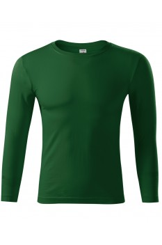 Bluza unisex Piccolio Progress LS, verde sticla
