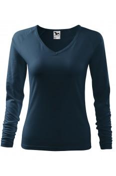 Tricou femei, maneca lunga, Malfini Elegance, albastru marin