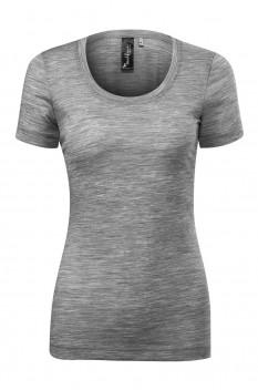 Tricou femei, Malfini Premium Merino Rise, gri inchis