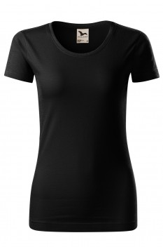 Tricou femei, bumbac organic 100%, Malfini Origin, negru