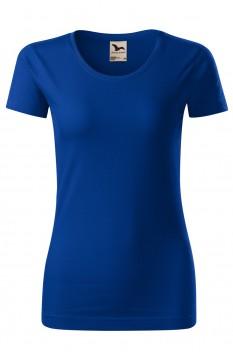 Tricou femei, bumbac organic 100%, Malfini Origin, albastru regal