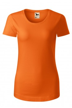 Tricou femei, bumbac organic 100%, Malfini Origin, portocaliu