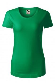 Tricou femei, bumbac organic 100%, Malfini Origin, verde mediu
