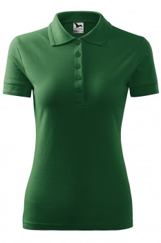 Tricou polo femei Malfini Pique, verde sticla