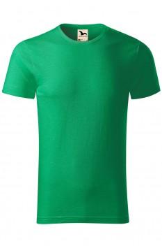 Tricou barbati, bumbac organic 100%, Malfini Native, verde mediu