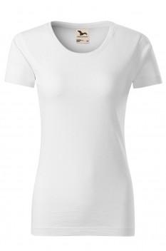 Tricou femei, bumbac organic 100%, Malfini Native, alb