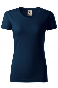 Tricou femei, bumbac organic 100%, Malfini Native, albastru marin