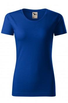 Tricou femei, bumbac organic 100%, Malfini Native, albastru regal