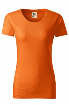 Tricou femei, bumbac organic 100%, Malfini Native, portocaliu
