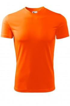 Tricou barbati, poliester 100%, Malfini Fantasy, portocaliu neon