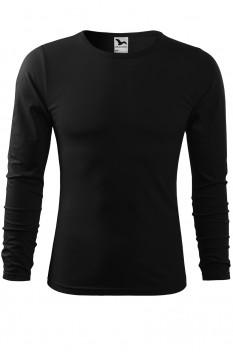 Tricou barbati, bumbac 100%, Malfini Fit-T Long Sleeve, negru