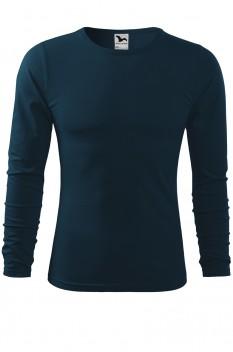 Tricou barbati, bumbac 100%, Malfini Fit-T Long Sleeve, albastru marin