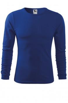 Tricou barbati, bumbac 100%, Malfini Fit-T Long Sleeve, albastru regal