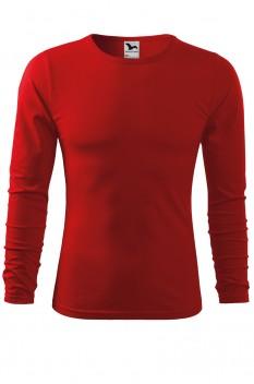 Tricou barbati, bumbac 100%, Malfini Fit-T Long Sleeve, rosu