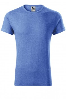Tricou barbati, Malfini Fusion, albastru melanj