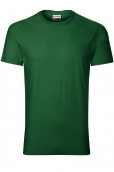 Tricou barbati, bumbac 100%, Rimeck Resist Heavy, verde sticla