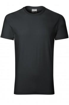 Tricou barbati, bumbac 100%, Rimeck Resist Heavy, ebony gray