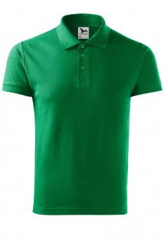 Tricou polo barbati, bumbac 100%, Malfini Cotton, verde mediu
