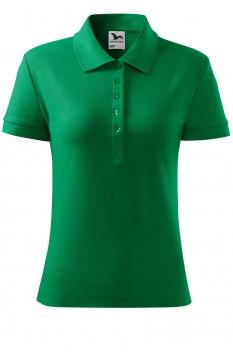 Tricou polo femei, bumbac 100%, Malfini Cotton, verde mediu