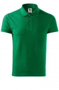 Tricou polo barbati, bumbac 100%, Malfini Cotton Heavy, verde mediu