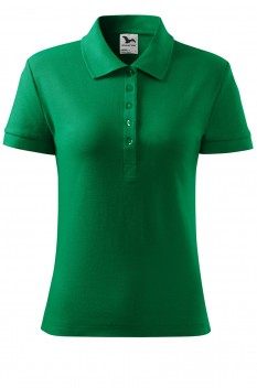 Tricou polo femei, bumbac 100%, Malfini Cotton Heavy, verde mediu
