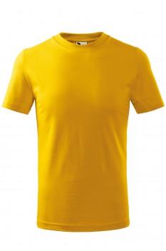 Tricou copii, bumbac 100%, Malfini Basic, galben