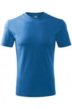 Tricou copii, bumbac 100%, Malfini Basic, albastru azuriu