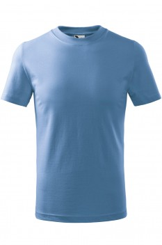 Tricou copii, bumbac 100%, Malfini Basic, albastru deschis