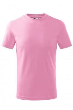Tricou copii, bumbac 100%, Malfini Basic, roz