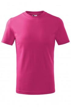 Tricou copii, bumbac 100%, Malfini Basic, roz zmeura