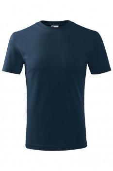 Tricou copii, bumbac 100%, Malfini Classic New, albastru marin