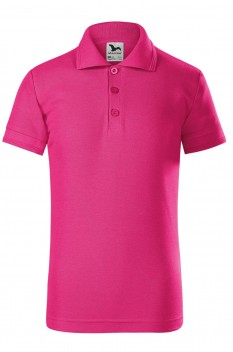 Tricou polo copii Malfini Pique, purpuriu