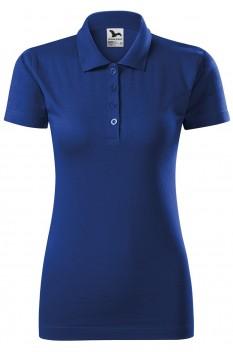 Tricou polo femei, bumbac 100%, Malfini Single Jersey, albastru regal