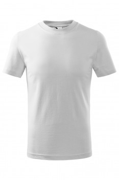 Tricou copii, bumbac 100%, Malfini Classic, alb