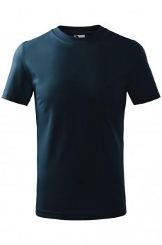 Tricou copii, bumbac 100%, Malfini Classic, albastru marin