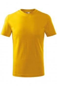 Tricou copii, bumbac 100%, Malfini Classic, galben