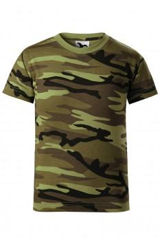 Tricou copii, bumbac 100%, Malfini Camouflage, camuflaj verde