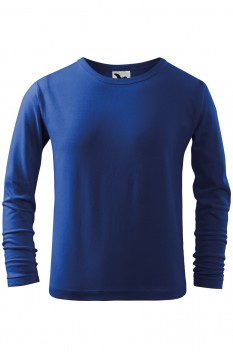 Tricou copii, bumbac 100%, Malfini Fit-T Long Sleeve, albastru regal