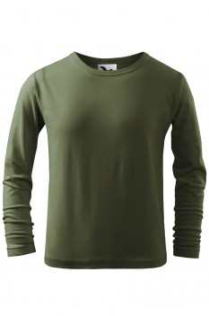 Tricou copii, bumbac 100%, Malfini Fit-T Long Sleeve, khaki