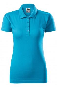 Tricou polo pentru femei Malfini Single Jersey, turcoaz