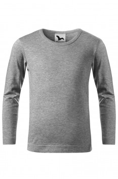 Tricou copii, Malfini Fit-T Long Sleeve, gri inchis